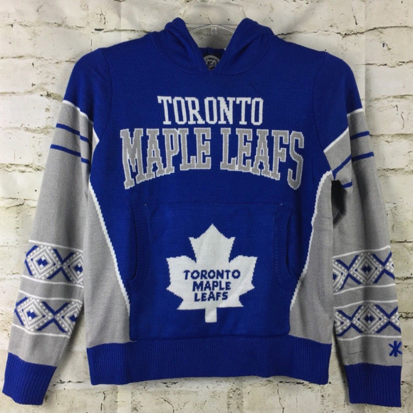 new concept 01d25 87cbf NHL Toronto Maple Leafs Hoodie Sweater Youth F12